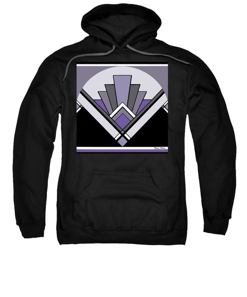 Art Deco Pattern Two - Purple Sweatshirt
