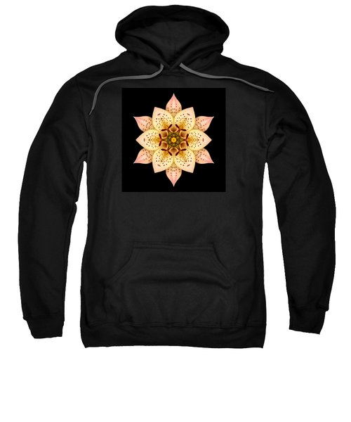 Asiatic Lily Flower Mandala Sweatshirt