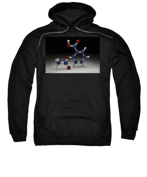 Aspirin Molecule Sweatshirt