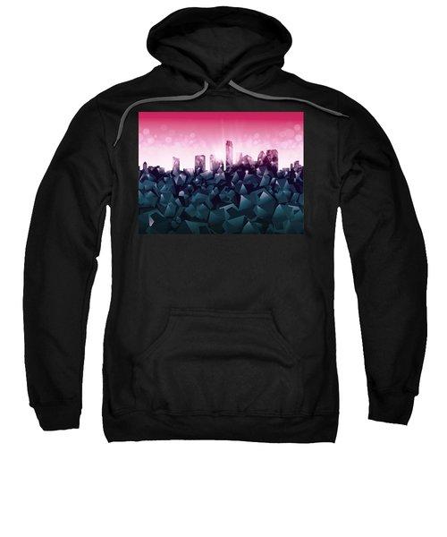 Austin Skyline Geometry 2 Sweatshirt by Bekim Art