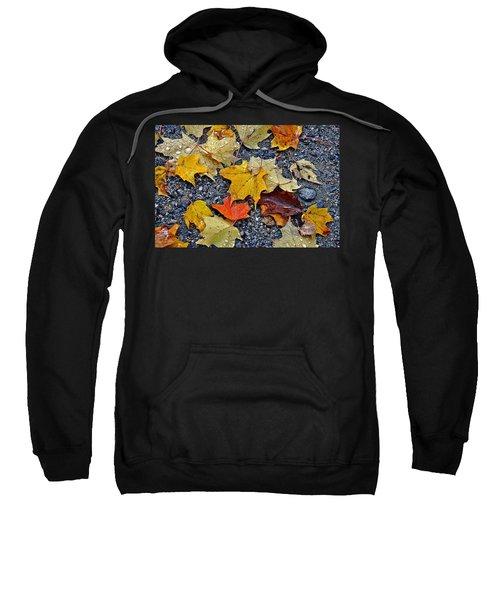 Autumn Leaves In Rain Sweatshirt