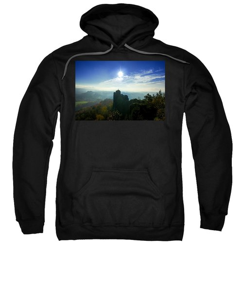 Autumn Sunrise In The Elbe Sandstone Mountains Sweatshirt