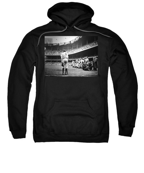 Babe Ruth Poster Sweatshirt by Gianfranco Weiss