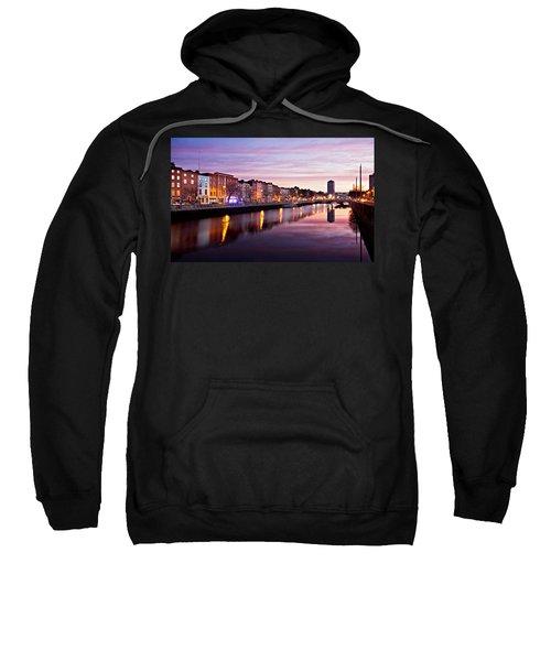 Bachelors Walk And River Liffey At Dawn - Dublin Sweatshirt