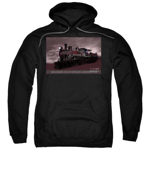 Baldwin 4-6-0 Steam Locomotive Sweatshirt