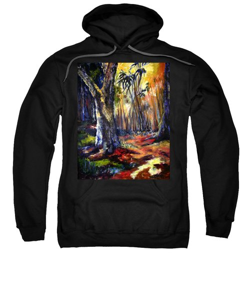 Bamboo Garden With Bunny Sweatshirt