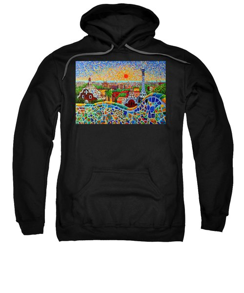 Barcelona View At Sunrise - Park Guell  Of Gaudi Sweatshirt