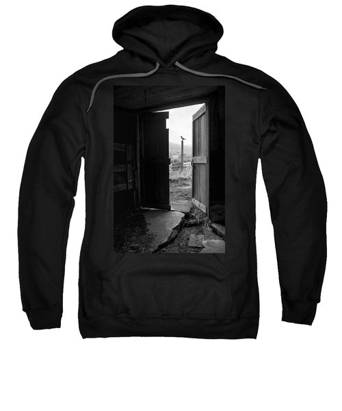 Barn Door - View From Within - Old Barn Picture Sweatshirt