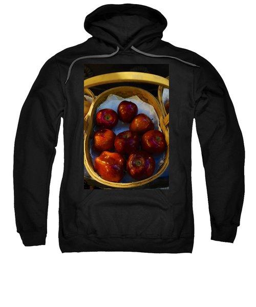 Basket Of Red Apples Sweatshirt