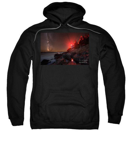 Bass Harbor Lighthouse Milky Way Sweatshirt