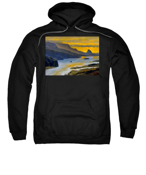 Beacon Rock From Oregon Side Sweatshirt