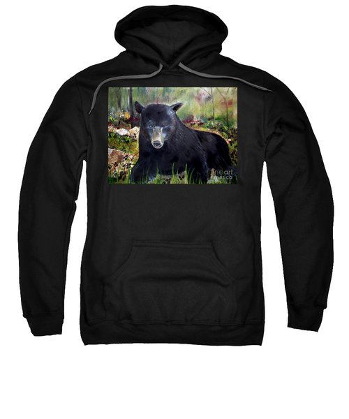 Bear Painting - Blackberry Patch - Wildlife Sweatshirt