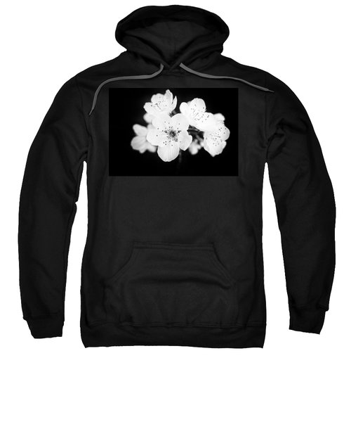 Beautiful Blossoms In Black And White Sweatshirt
