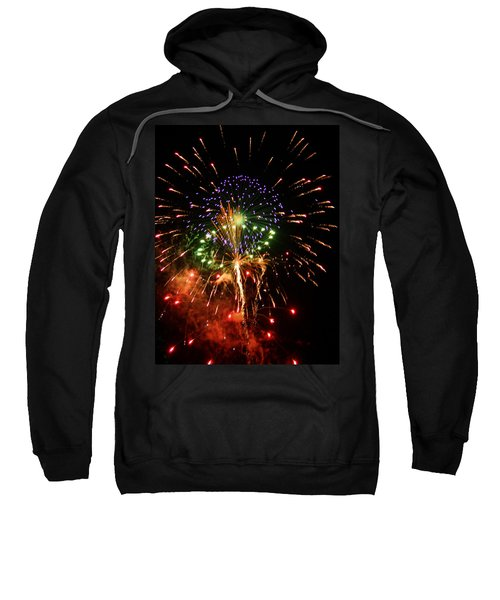 Sweatshirt featuring the photograph Beautiful Fireworks Works by Kim Pate
