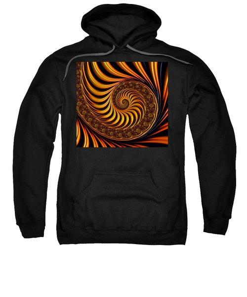 Beautiful Golden Fractal Spiral Artwork  Sweatshirt by Matthias Hauser