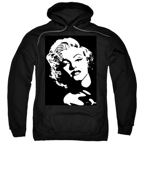 Sweatshirt featuring the painting Beautiful Marilyn Monroe Original Acrylic Painting by Georgeta  Blanaru
