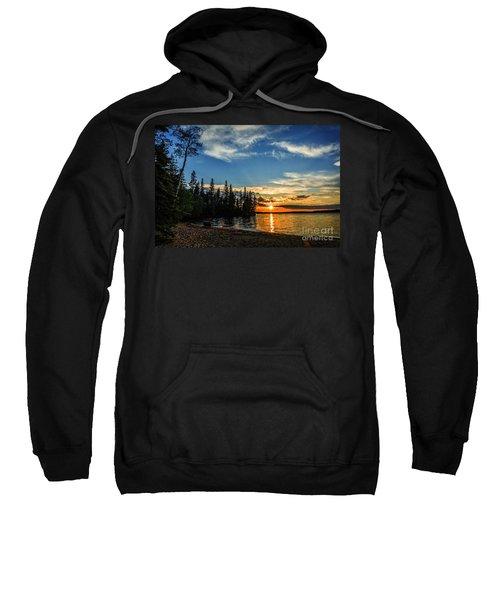 Beautiful Sunset At Waskesiu Lake Sweatshirt