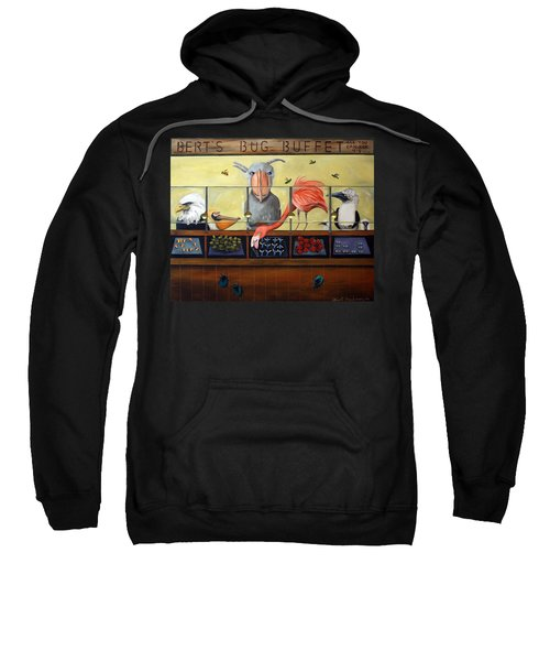 Bert's Bug Buffet Sweatshirt by Leah Saulnier The Painting Maniac