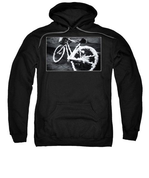 Bicycle In Snow Sweatshirt