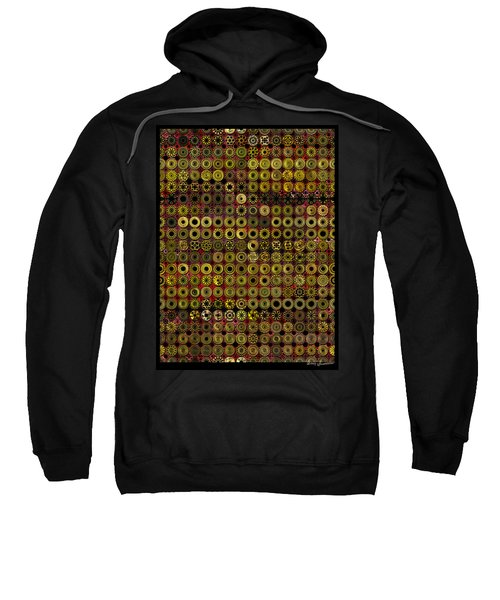 Biding Time In The Gold Flocked Basement Twixt Death And Funeral Sweatshirt