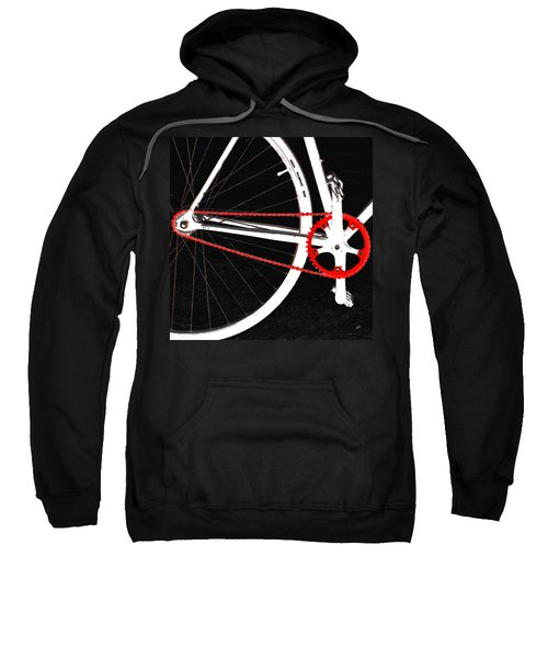 Bike In Black White And Red No 2 Sweatshirt