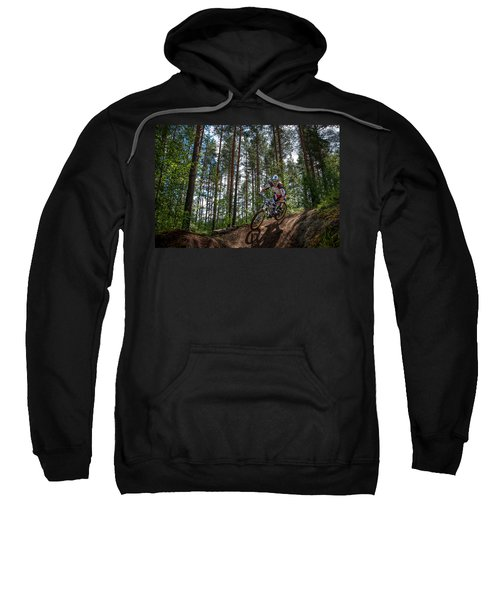 Biker On Trail Sweatshirt