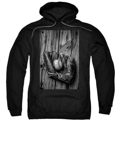 Black And White Mitt Sweatshirt