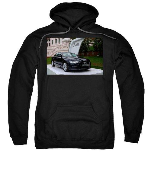 Black Audi A6 Classic Saloon Car Sweatshirt