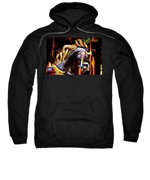 Black Carousel Horse Sweatshirt