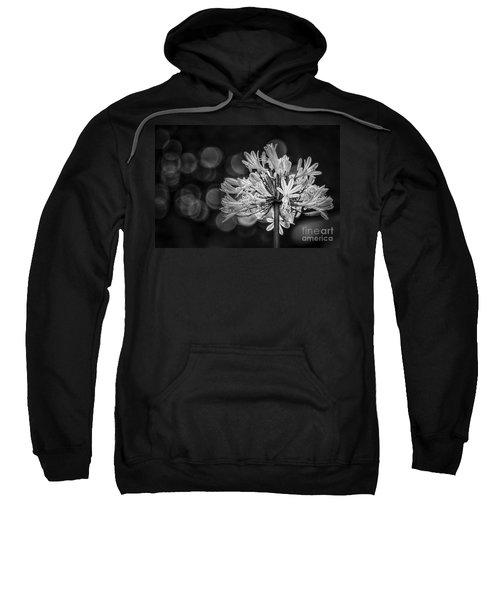Blue Blooms B/w Sweatshirt