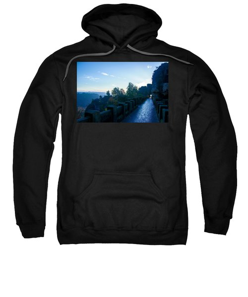 Blue Morning On The Bastei Sweatshirt