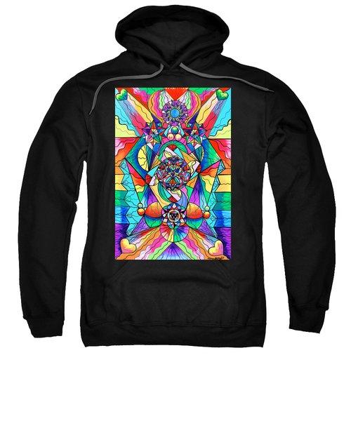 Blue Ray Transcendence Grid Sweatshirt