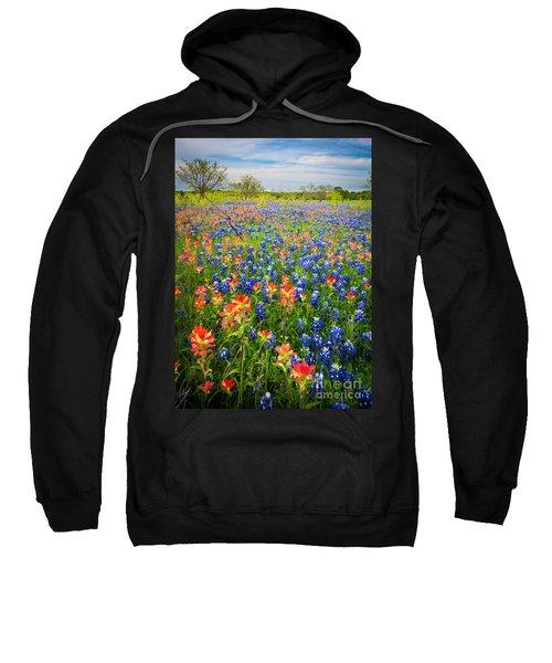 Bluebonnets And Prarie Fire Sweatshirt