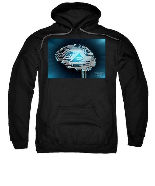Brain Made Of Pcb Sweatshirt