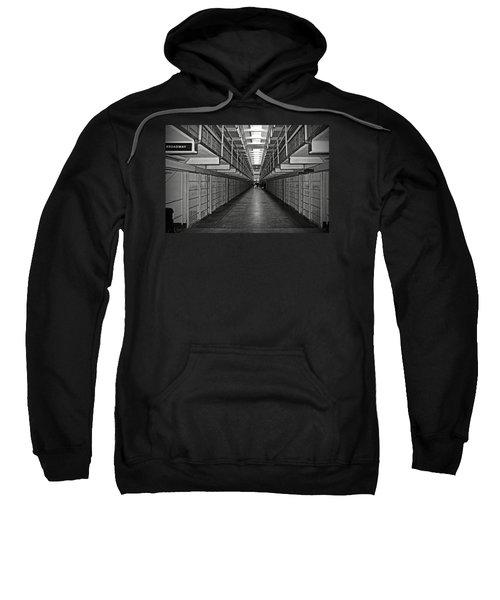 Broadway Walkway In Alcatraz Prison Sweatshirt