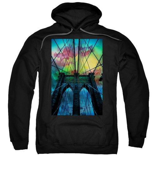 Psychedelic Skies Sweatshirt by Az Jackson