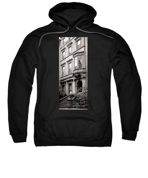 Brooklyn Heights -  N Y C - Classic Building And Bike Sweatshirt