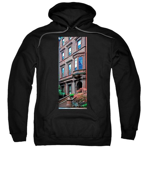 Brooklyn Heights - Nyc - Classic Building And Bike Sweatshirt