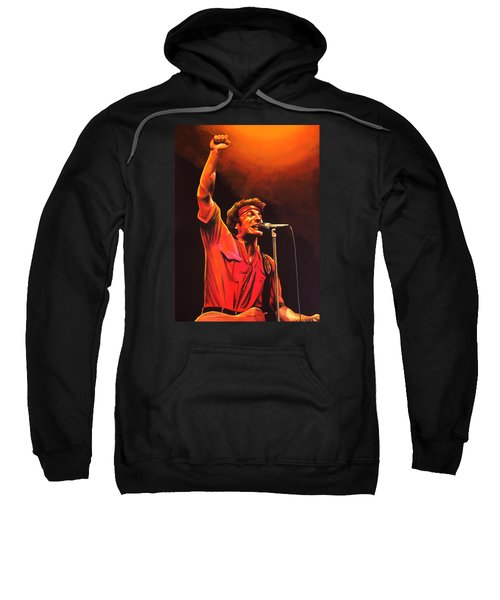 Bruce Springsteen Painting Sweatshirt by Paul Meijering
