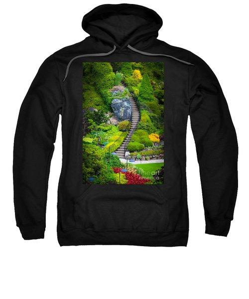 Butchart Gardens Stairs Sweatshirt