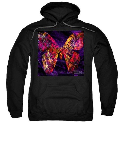 Butterfly In Abstract Dsc2977 Square Sweatshirt