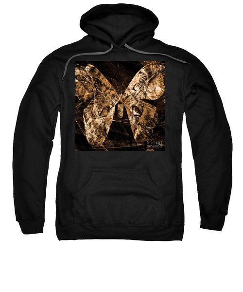 Butterfly In Abstract Dsc2977or Square Sweatshirt