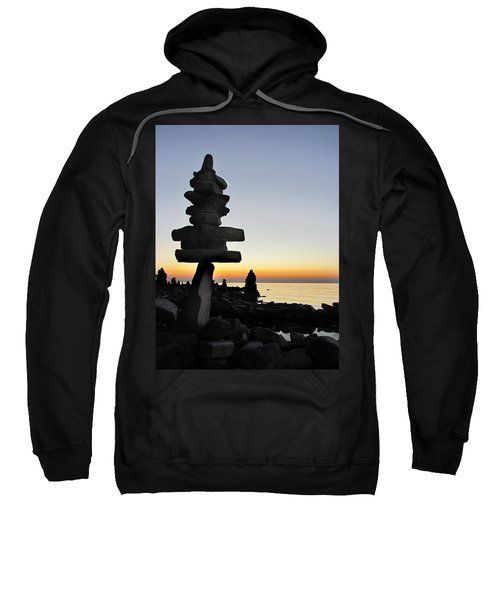 Cairns At Sunset At Door Bluff Headlands Sweatshirt