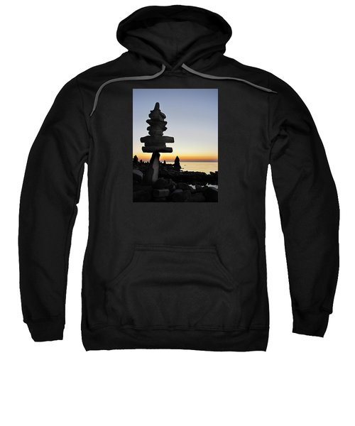 Cairns At Sunset At Door Bluff Headlands Sweatshirt
