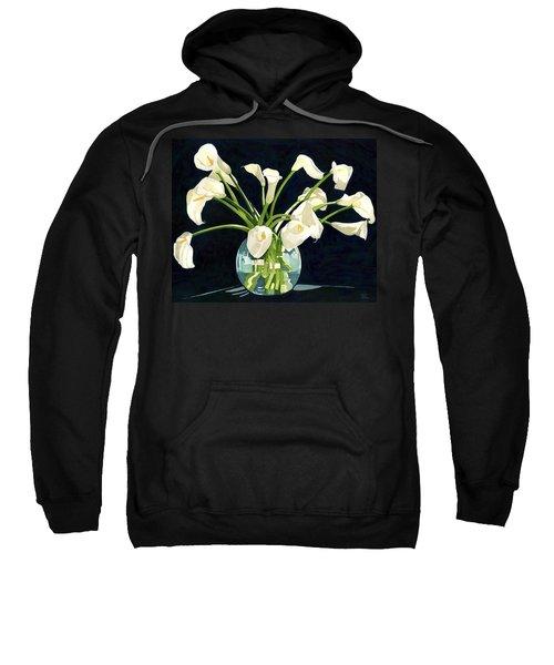 Calla Lilies In Vase Sweatshirt