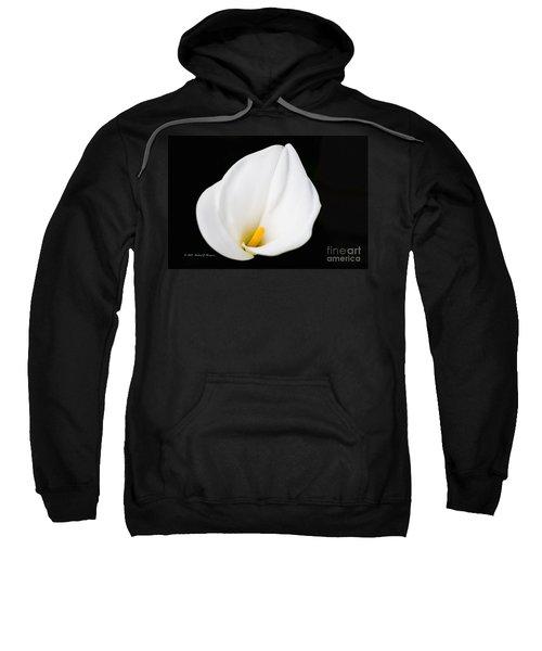Calla Lily Flower Face Sweatshirt