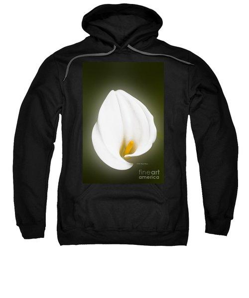 Calla Lily Flower Glow Sweatshirt