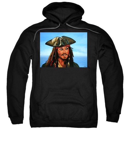 Captain Jack Sparrow Painting Sweatshirt by Paul Meijering