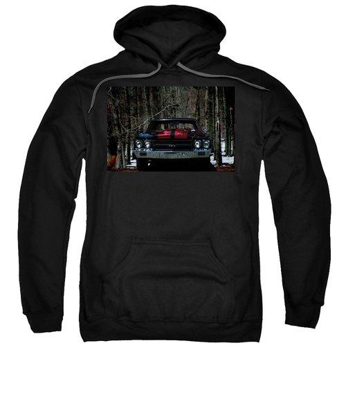 Car Art Chevy Chevelle Ss Hdr Sweatshirt