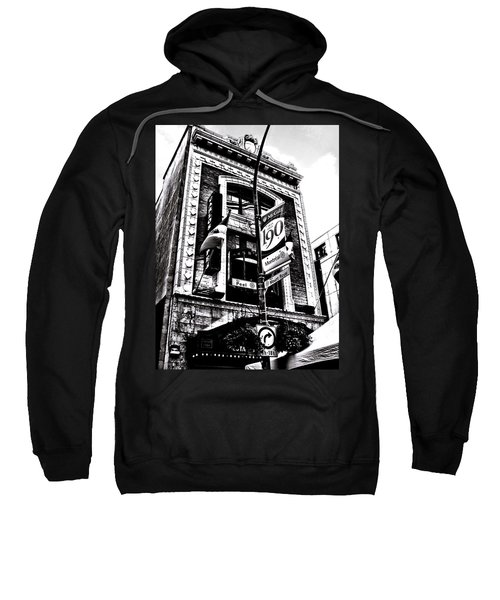 Sweatshirt featuring the photograph Carlos And Pepe's Montreal Mexican Bar Bw by Shawn Dall